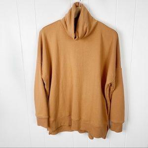 Aerie•Oversized orange turtleneck sweatshirt